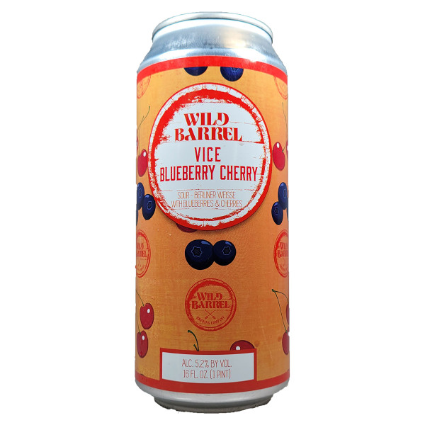 Wild Barrel Vice Blueberry Cherry Berliner Weisse Style Sour Ale Can