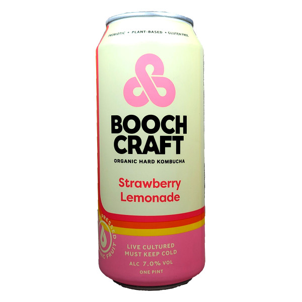 Boochcraft Strawberry Lemonade Organic Hard Kombucha Can