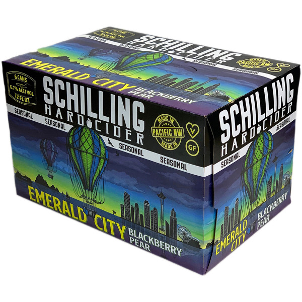 Schilling Emerald City Blackberry Pear Cider 6-Pack Can