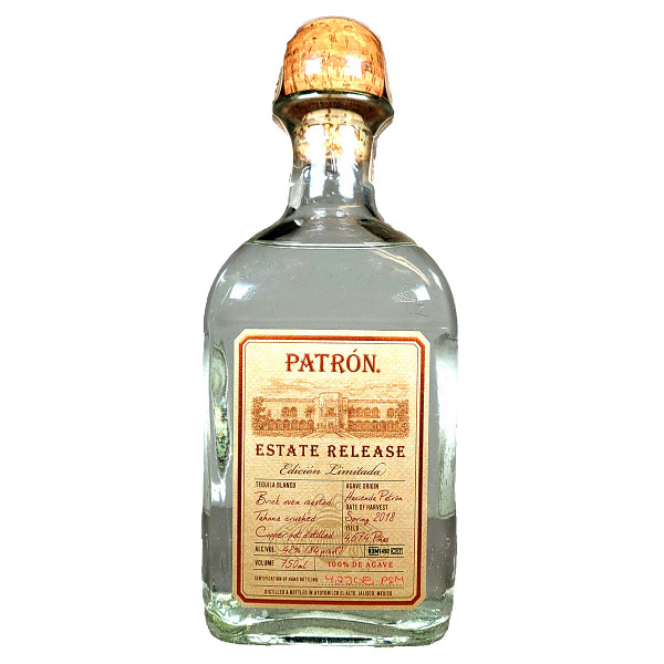 Patron Estate Release Blanco Tequila Limited Edition