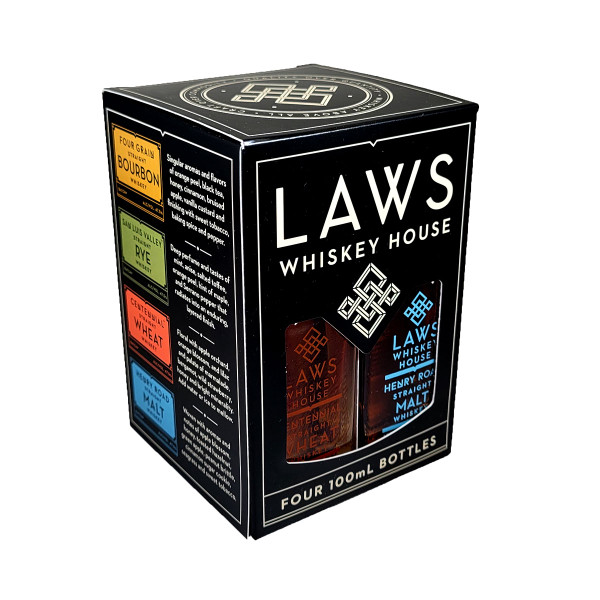 Laws Whiskey Quad Set 4-Pack 100ml