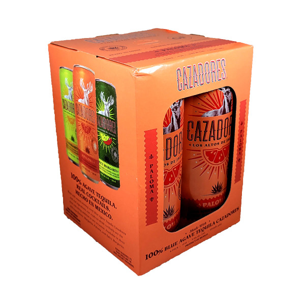 Cazadores Tequila Paloma Ready-To-Drink Cocktail 4-Pack Can