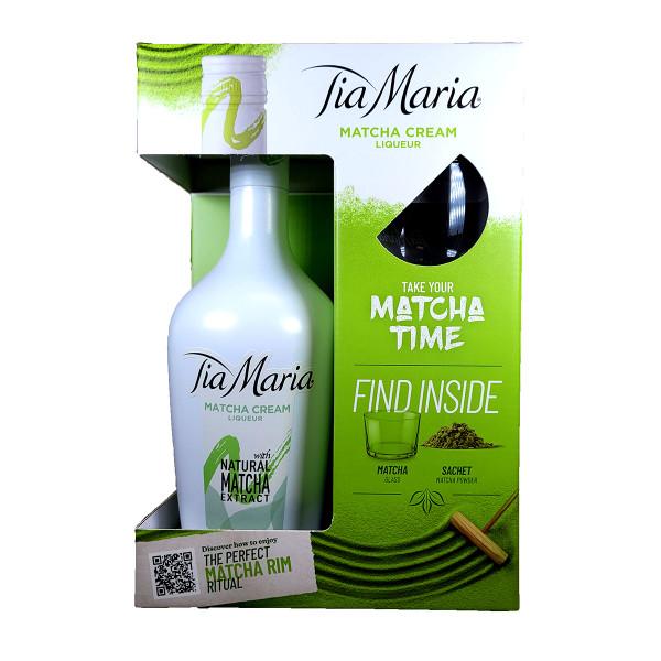 Tia Maria Matcha Cream Liquer Gift Pack With Matcha Glass & Matcha Powder