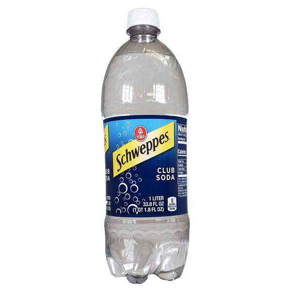 Schweppes Club Soda 1.0L