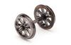 Hornby R8098 12.6mm Diameter Metal 8 Spoked Wheel/Axle Set Qty 10 Model Railway Spares