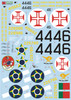 FCM P-47D Brazil (11 versions) - double set Decals 1:32 Scale