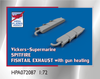 High Planes V-S Spitfire Fishtail Exhaust with Gun heating 1:72 Accessories (HPA072087)