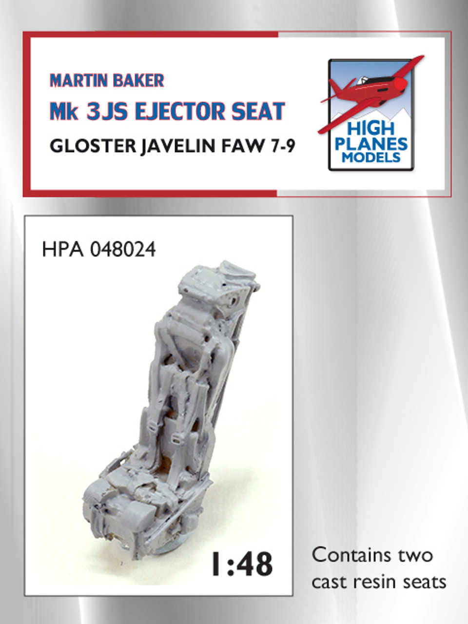 High Planes Martin Baker Mk 3JS Ejector Seats x2 Gloster Javelin Accessories 1:48