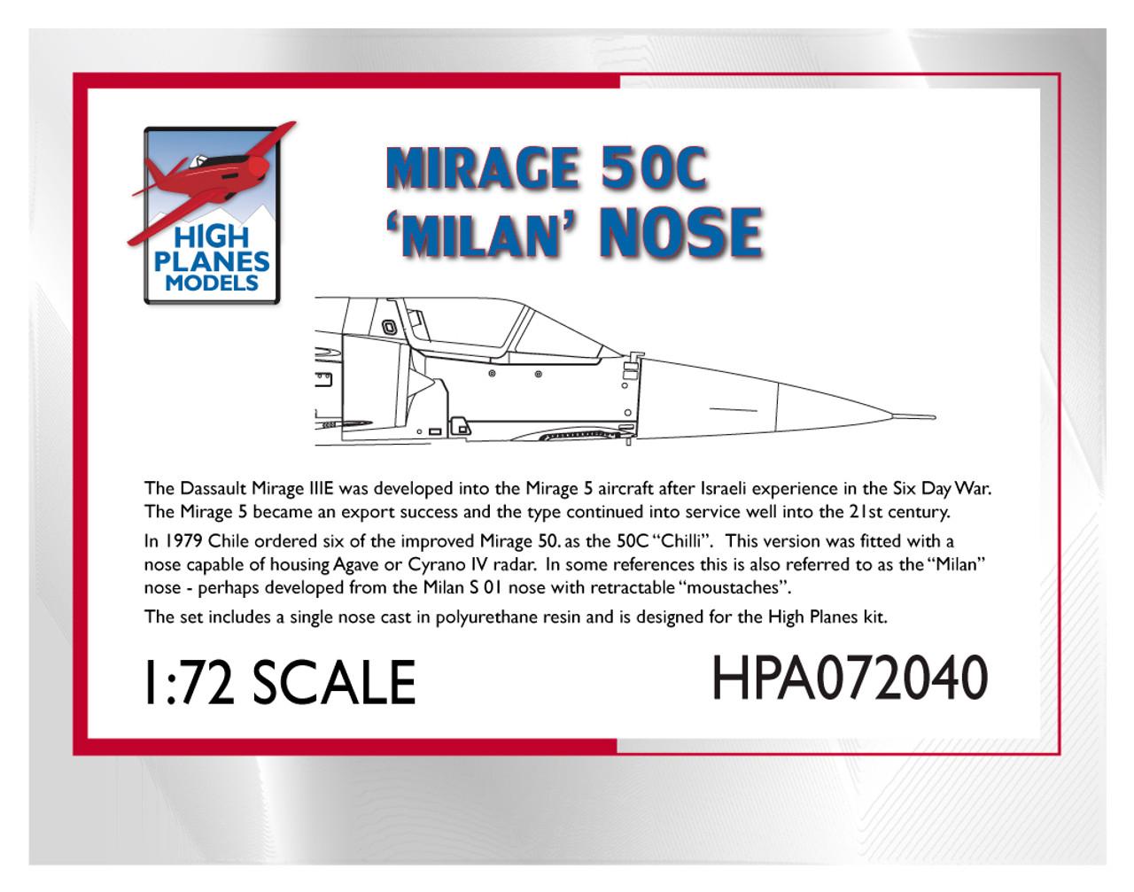 High Planes Dassault Mirage 50C 'Milan' Nose Accessories 1:72
