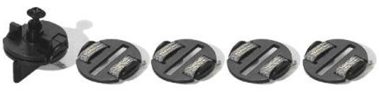 C8329 Scalextric replacement round guide blade, 4 braid plates, 1 screw