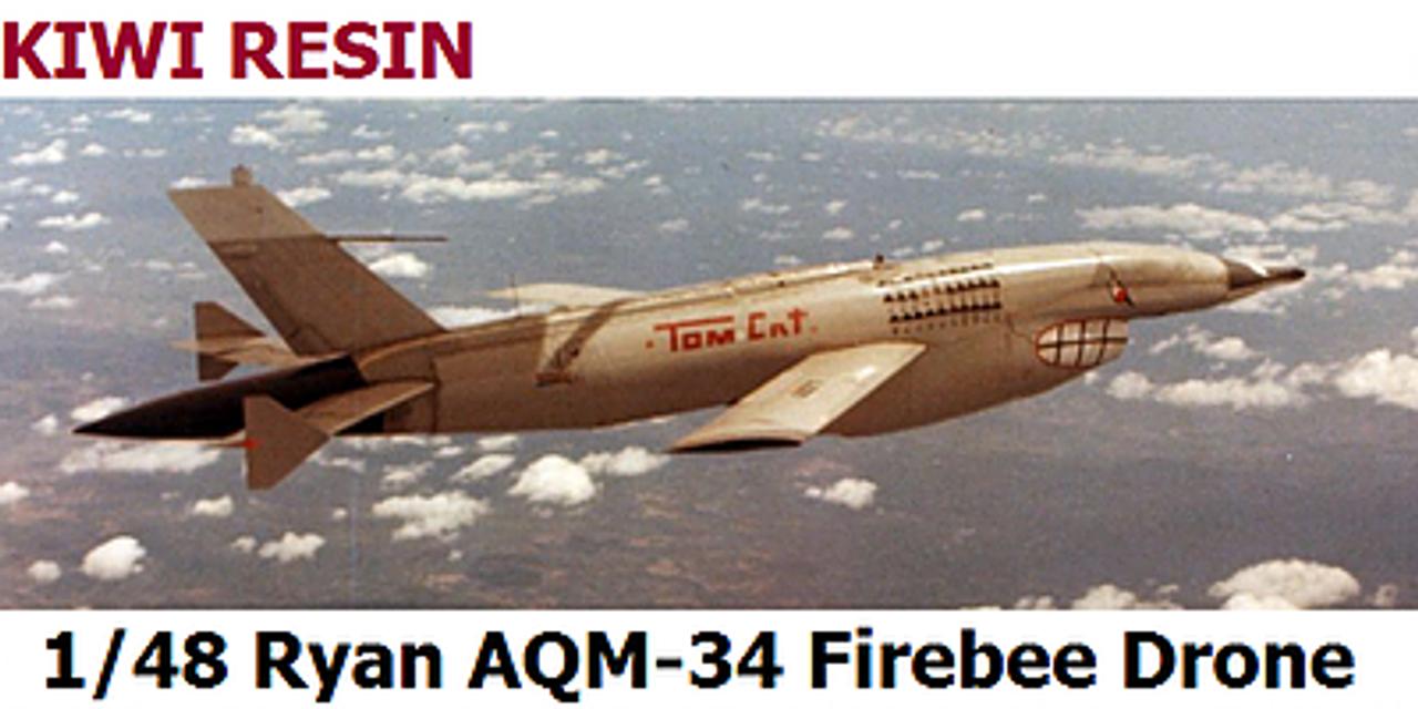Kiwi Resins Ryan AQM-34 Firebee Combat Drone kit 1/48 (KWR048002)