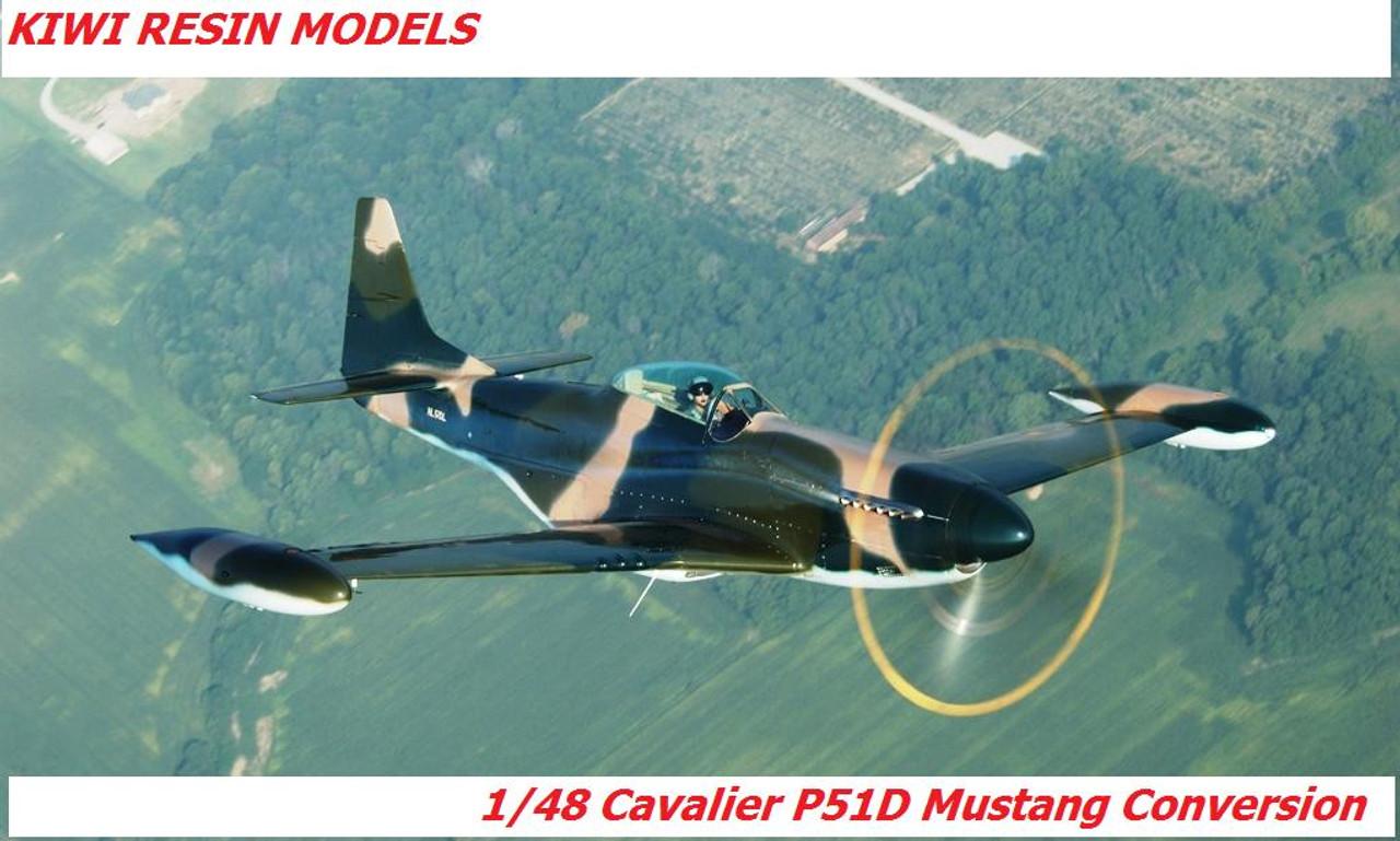 Kiwi Resins Cavalier Mustang conversion 1/48 (KWR048003)