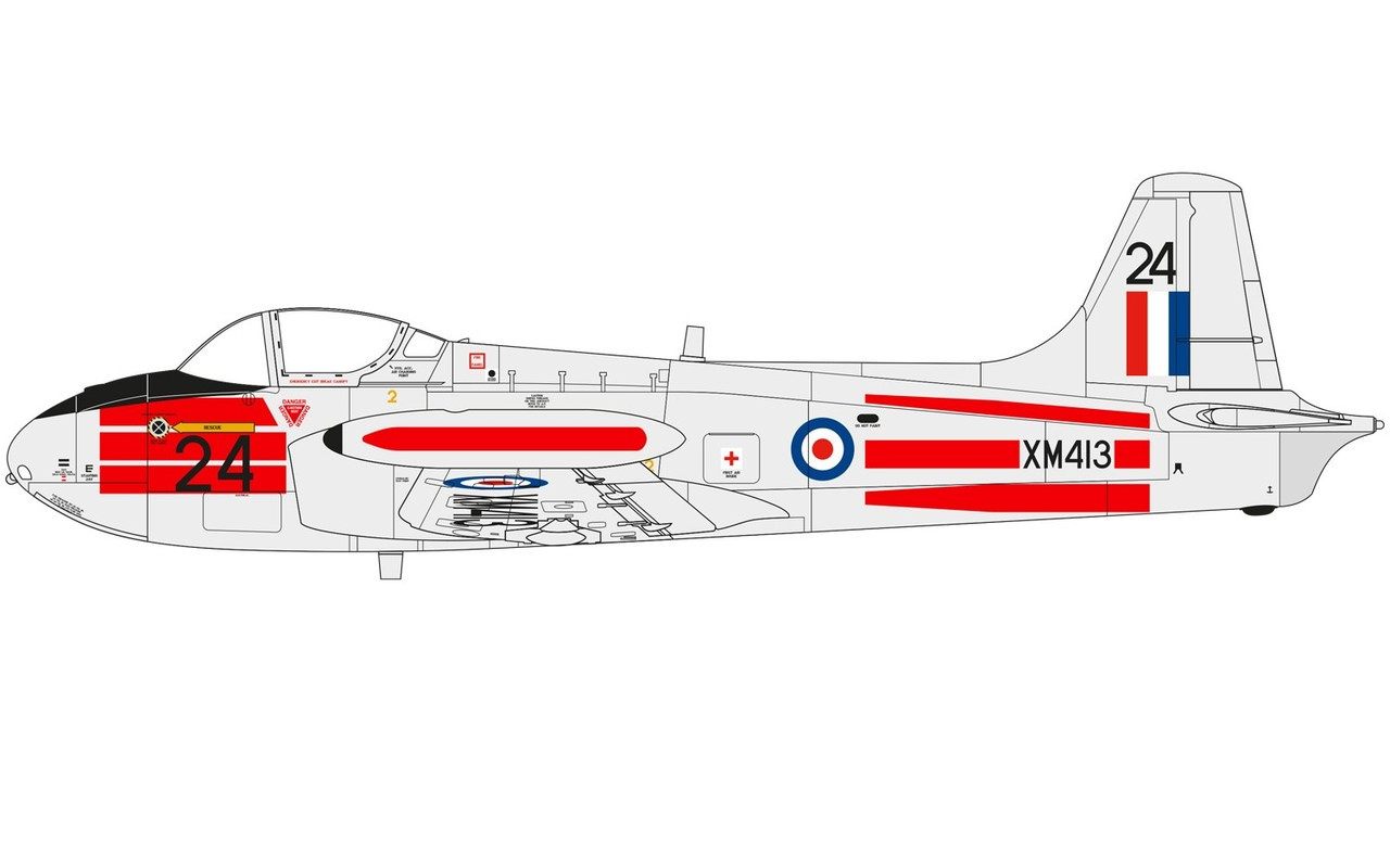Airfix A02103 Hunting Percival Jet Provost T.3/T.3a 1:72 Scale Model Kit