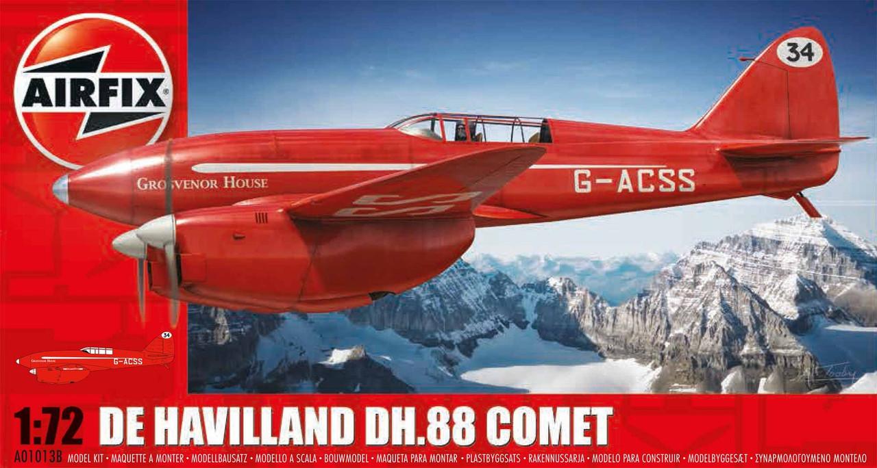 Airfix A01013B de Havilland DH.88 Comet Racer Red 1:72 Scale Model Kit