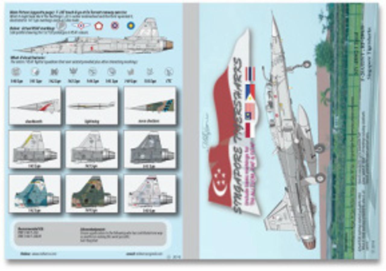 MILIVERSE MV-48002-1 RSAF F-20A/B/S/T, RF-20A/S Singapore Tigersharks 1:48 Decals (MV-48002-1)