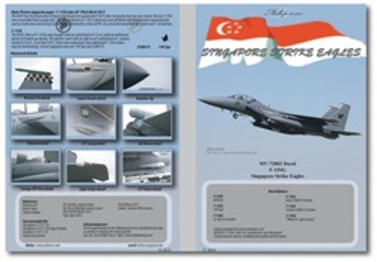 MILIVERSE MV-72003 RSAF F-15SG Singapore Strike Eagles 1:72 DECAL (MV-72003)