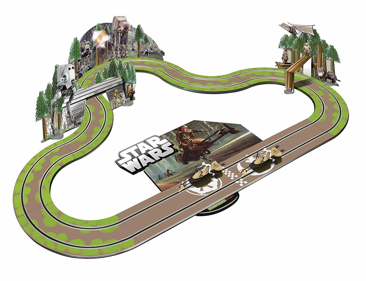 C1288 Scalextric Start Star Wars Battle of Endor 1:32 Scale Race Set