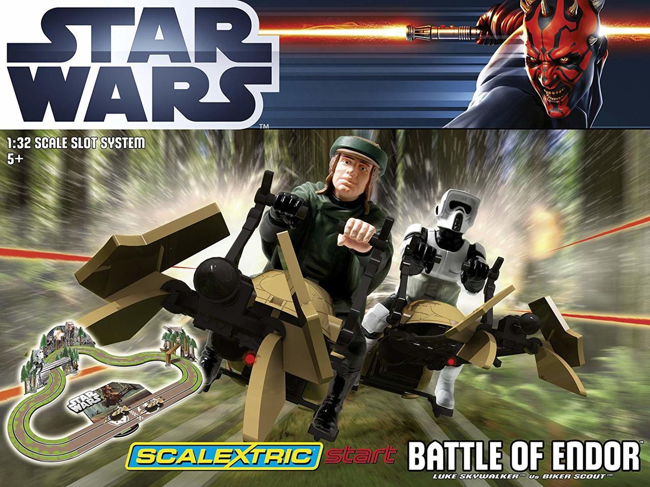C1288 Scalextric Start Star Wars Battle of Endor 1:32 Scale Race Set (C1288)