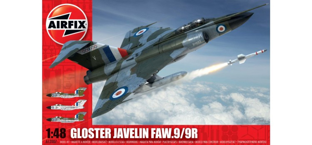 Airfix Gloster Javelin 1:48 Scale Model Kit (A12007)