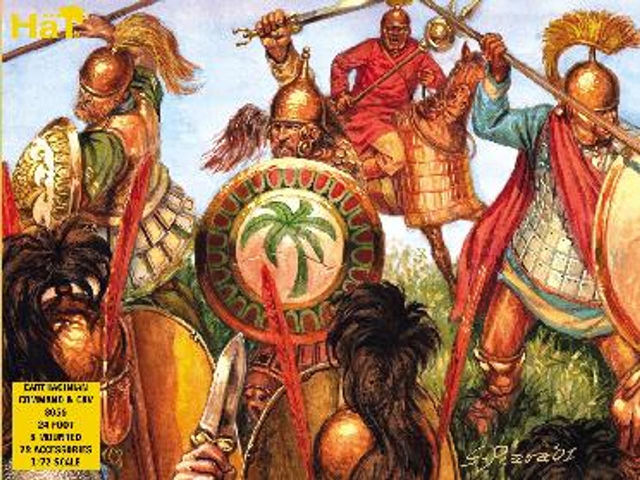 HaT 8056 Carthaginian Command & Cavalry Figures 1:72 Scale