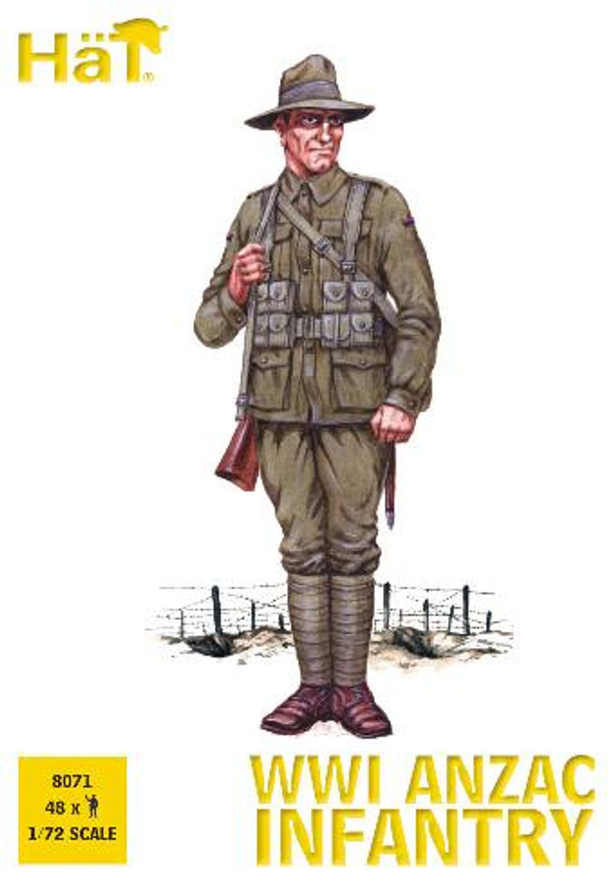 HaT 8071 WWI ANZAC Infantry Figures 1:72 Scale