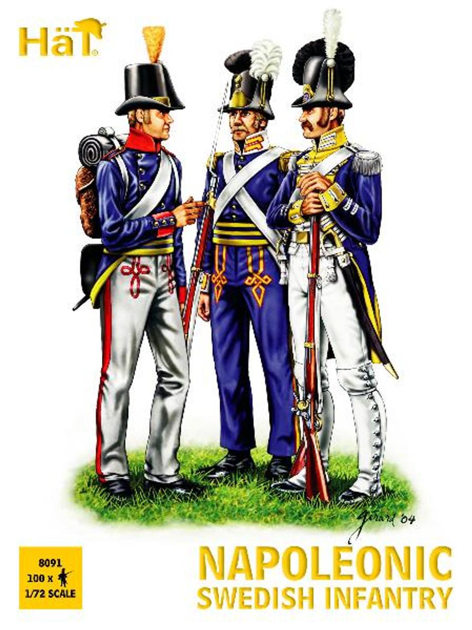 HaT 8091 Napoleonic Swedish Infantry Figures 1:72 Scale