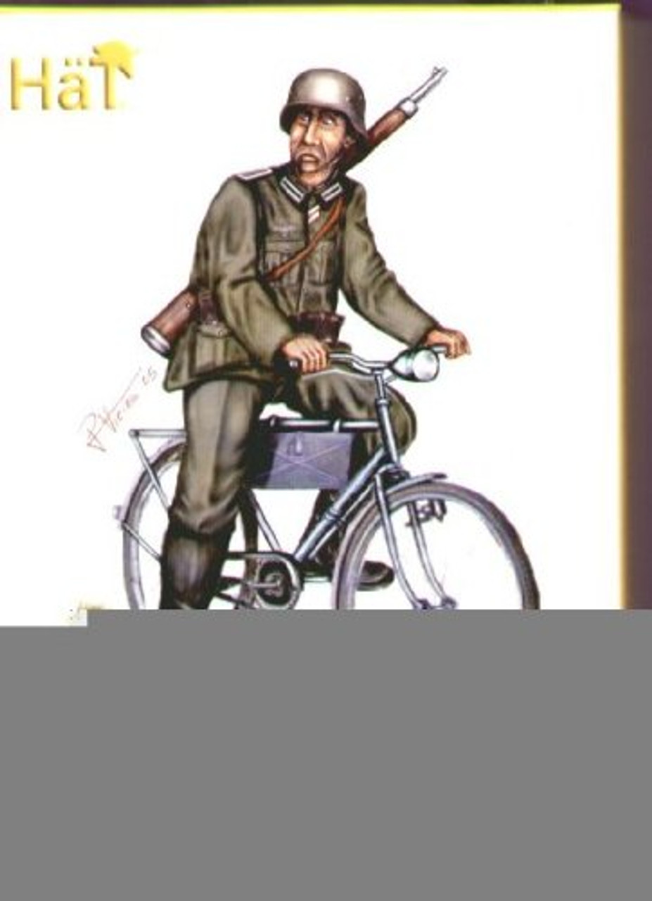 HaT 8119 WWII German Bicyclists Figures 1:72 Scale