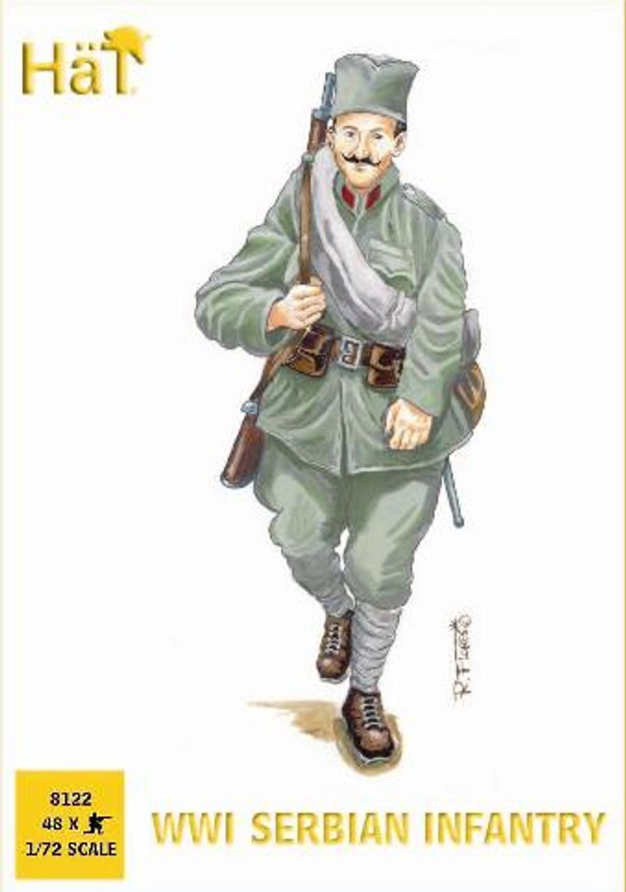 HaT 8122 WWI Serbian Infantry Figures 1:72 Scale