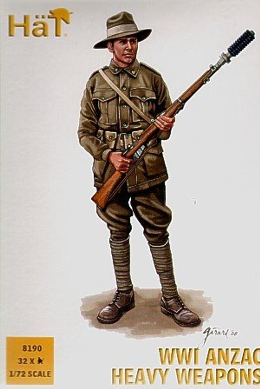 HaT 8190 WWI ANZAC Heavy Weapons Figures 1:72 Scale