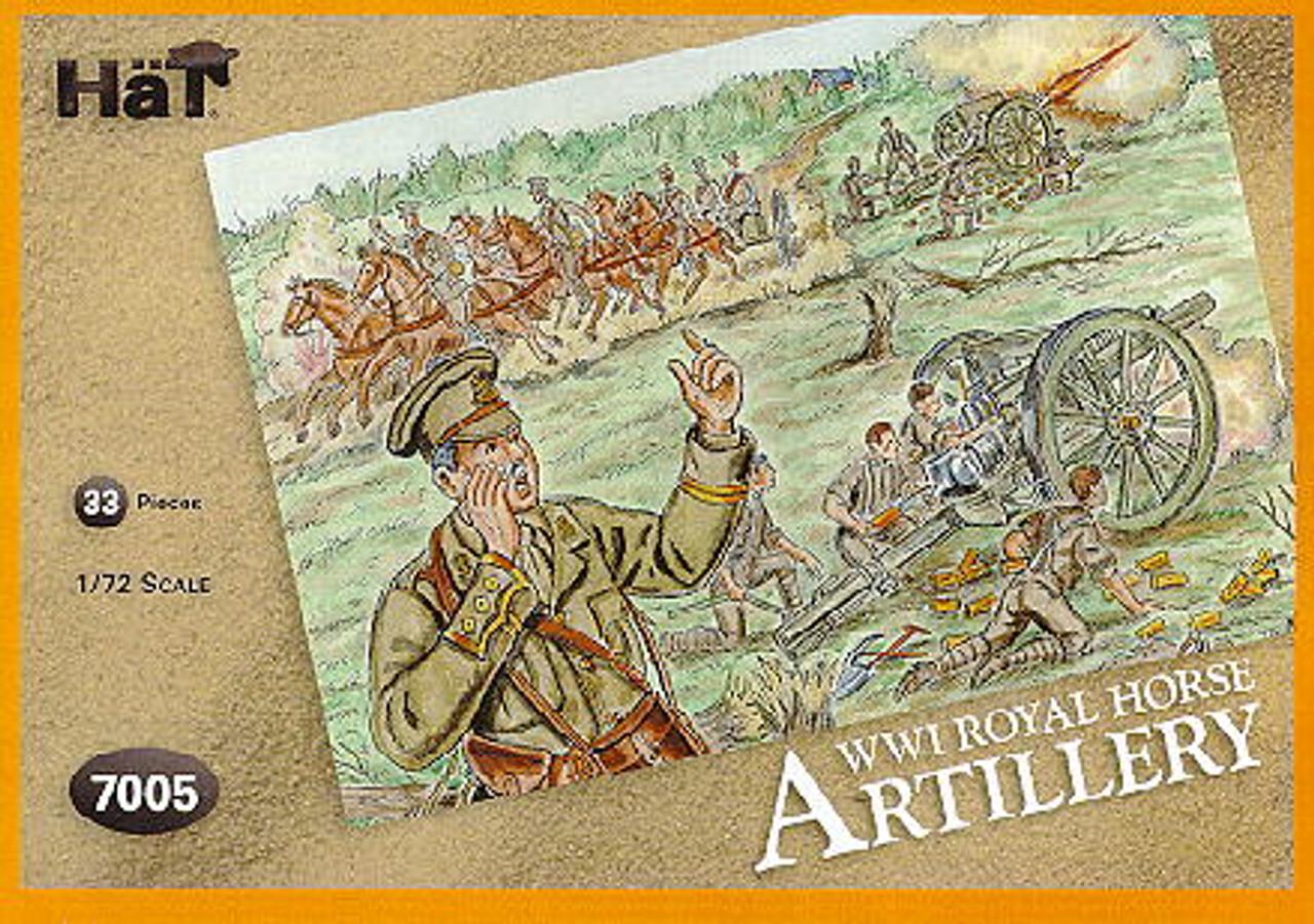 HaT 7005 WWI Royal Horse Artillery Figures 1:72 Scale