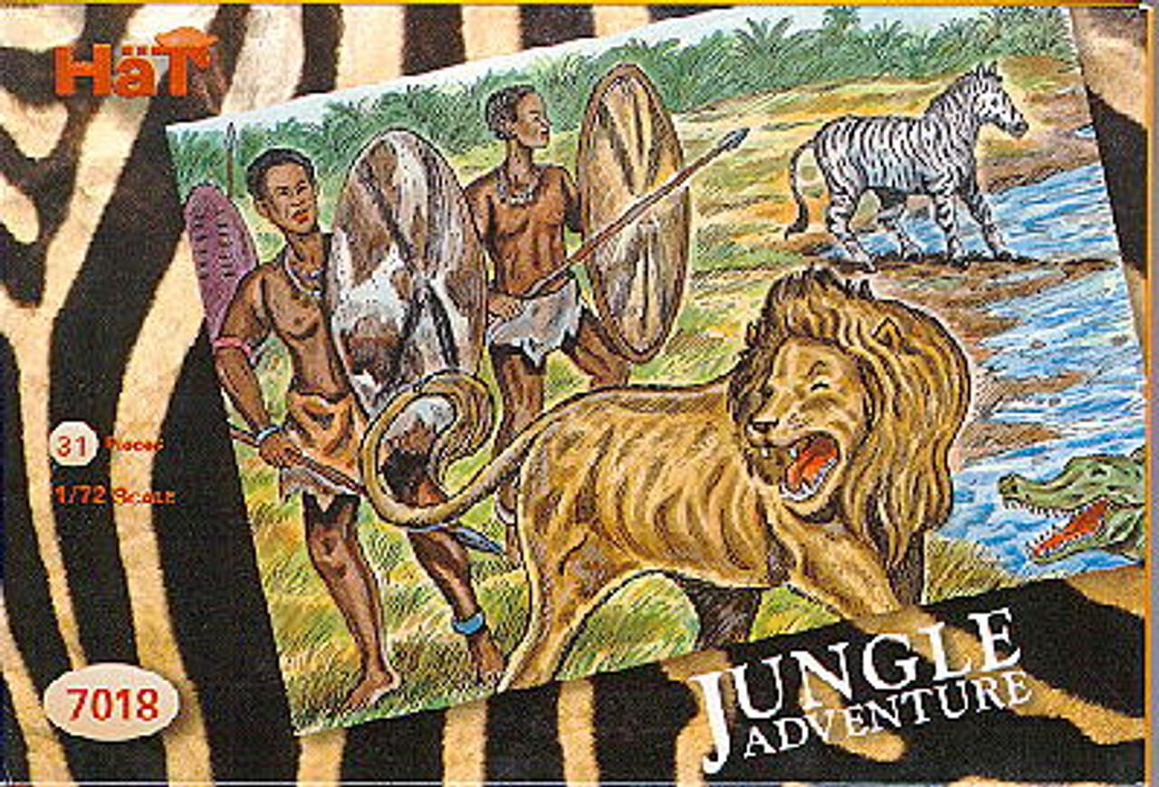 HaT 7018 Jungle Adventure Figures 1:72 Scale