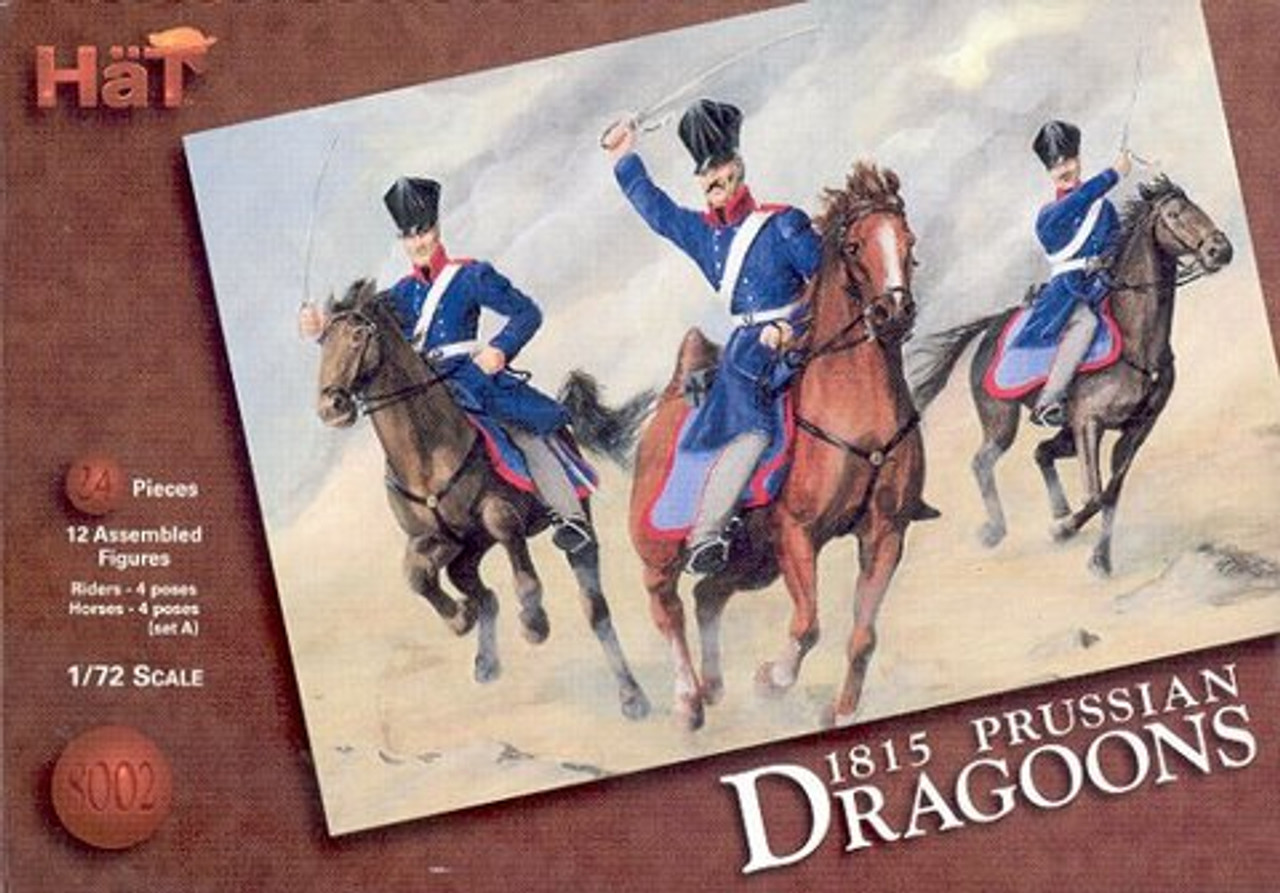 HaT 8002 Napoleonic Prussian Dragoons Figures 1:72 Scale