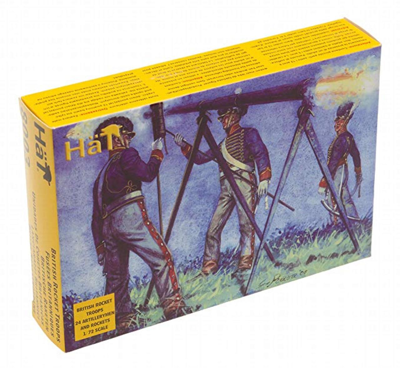 HaT 8003 Napoleonic British Rocket Troops Figures 1:72 Scale