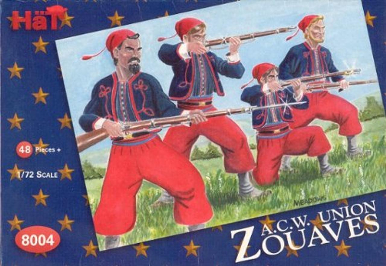 HaT 8004 American Civil War Zouaves Figures 1:72 Scale