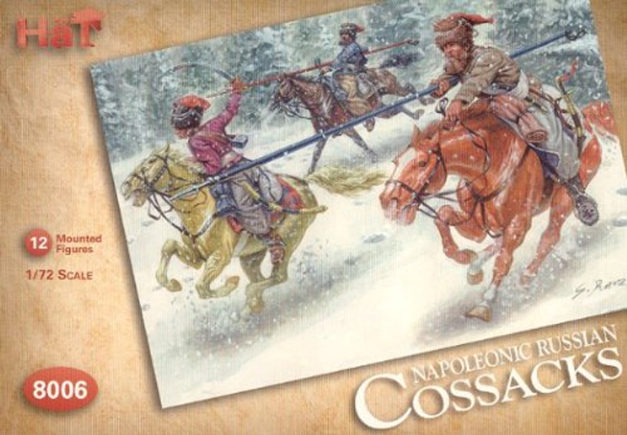 HaT 8006 Napoleonic Russian Cossacks Figures 1:72 Scale