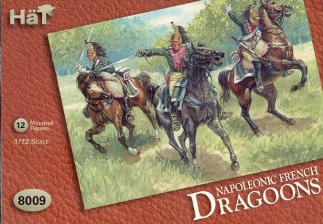 HaT 8009 Napoleonic French Dragoons Figures 1:72 Scale