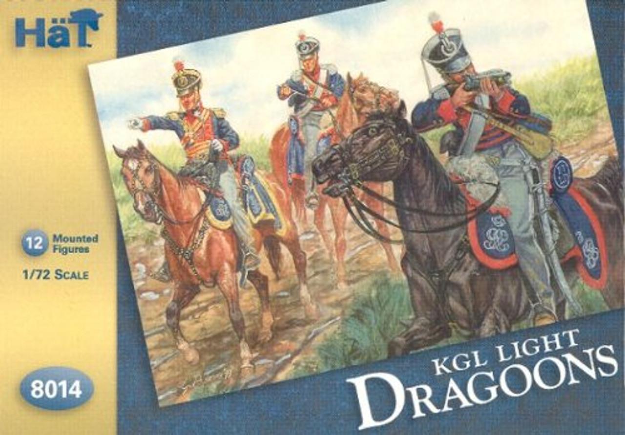 HaT 8014 Napoleonic King's German Legion Light Dragoons Figures 1:72 Scale
