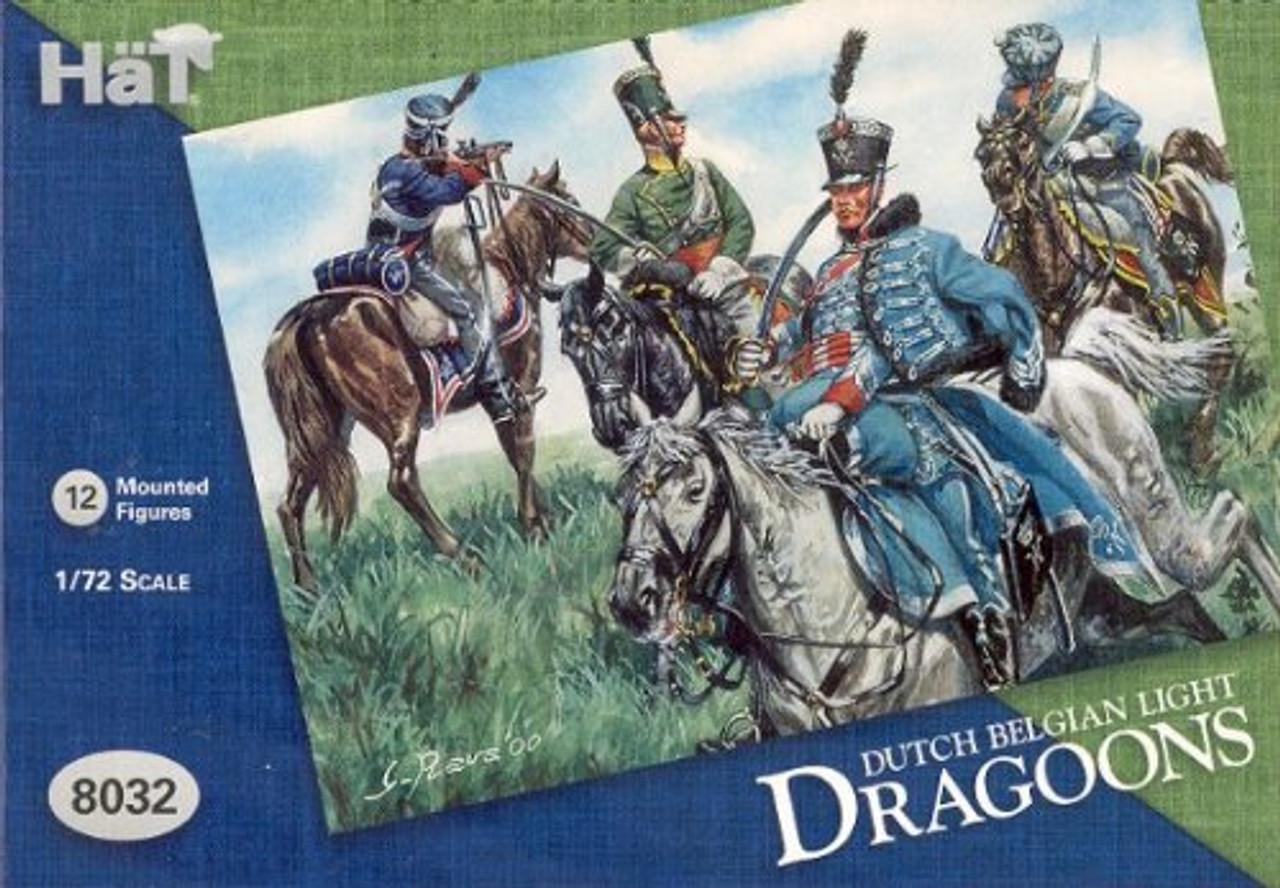 HaT 8032 Waterloo Dutch/Belgian Light Cavalry Figures 1:72 Scale