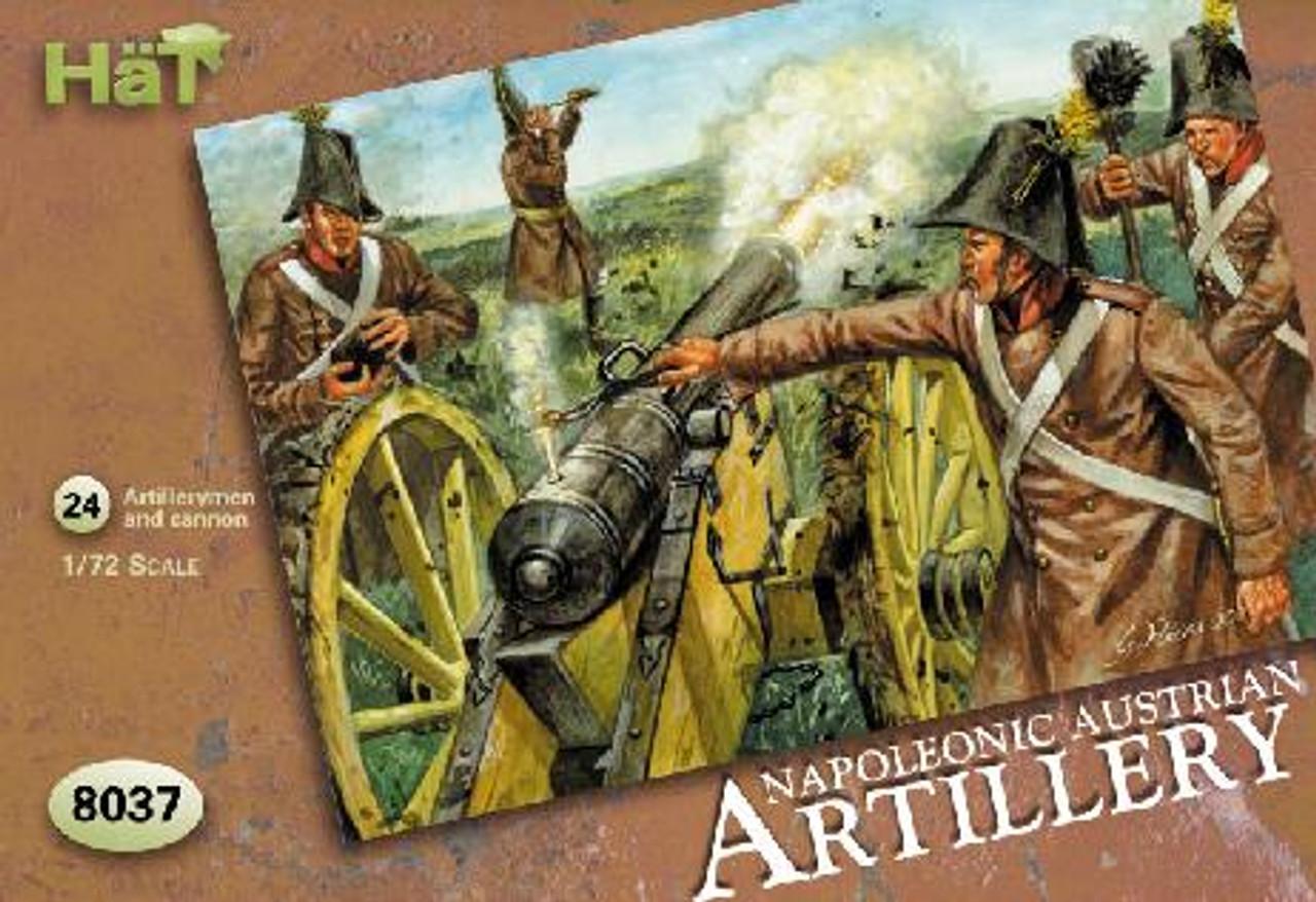 HaT 8037 Napoleonic Austrian Artillery Figures 1:72 Scale