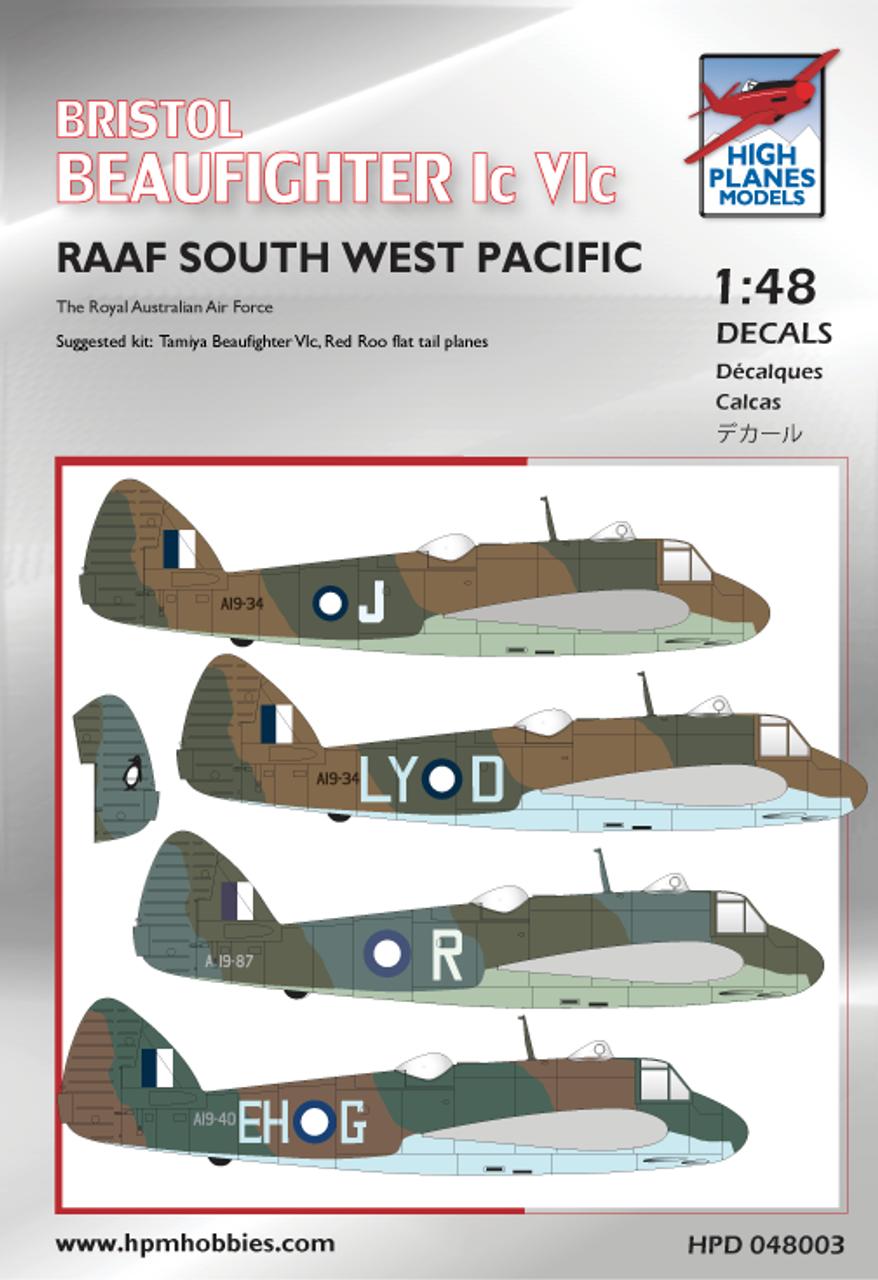 High Planes Bristol Beaufighter Ic/VIc RAAF Decals 1:48 (HPD048003)
