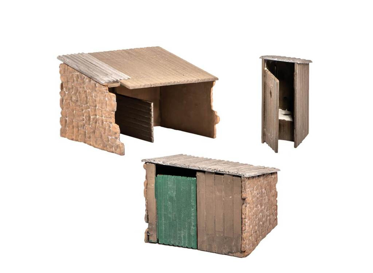 Wills Kits Scenic Series SS19 Grotty Huts & Privy OO/HO Lineside Accessories