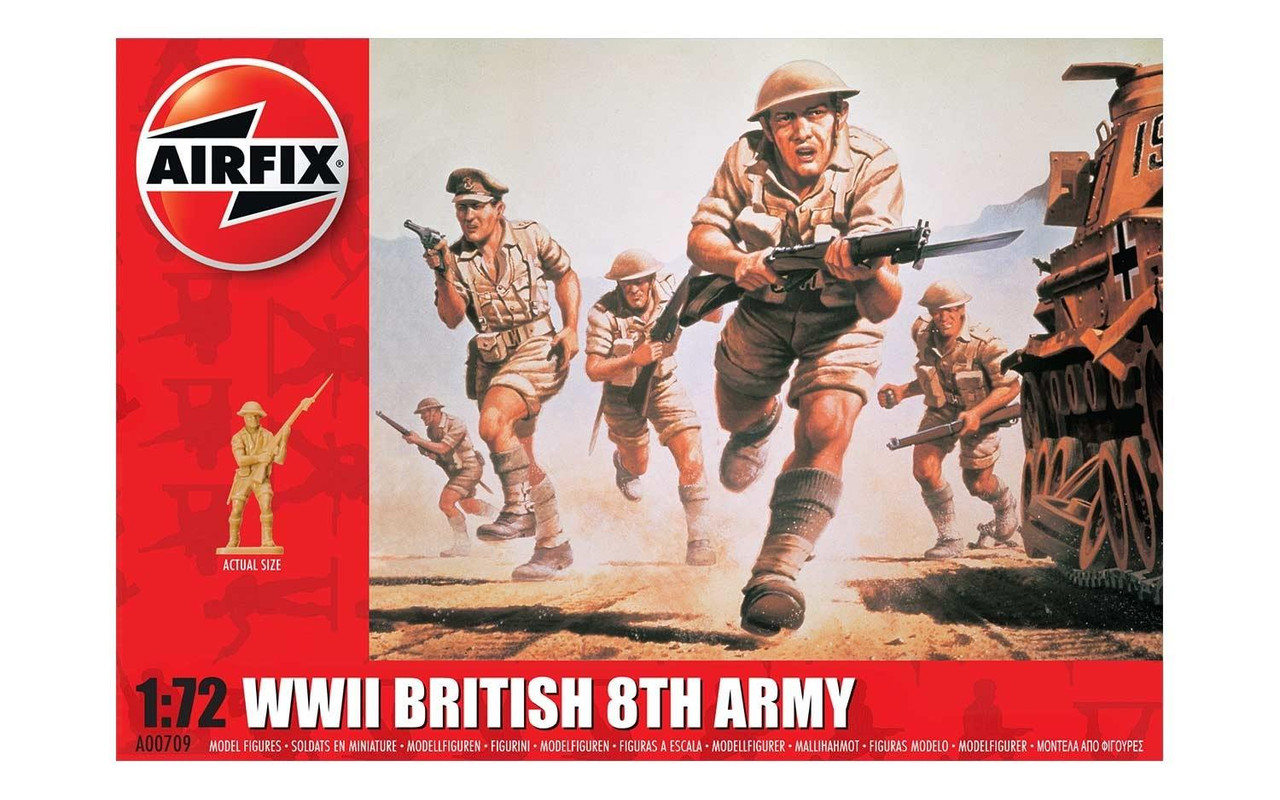 Airfix A00709 WWII British 8th Army 1:72 Scale Figures