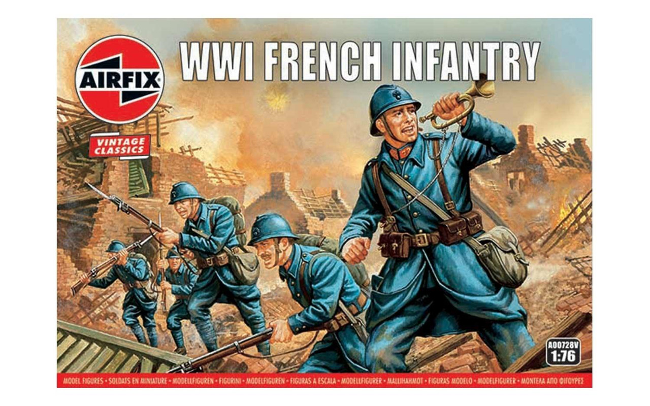 Airfix A00728V WW1 French Infantry 1:76 Scale Model Figures