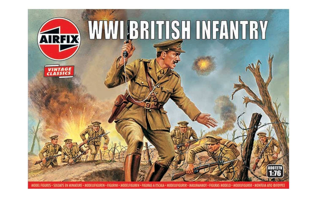 Airfix A00727V WW1 British Infantry 1:76 Scale Model Figures