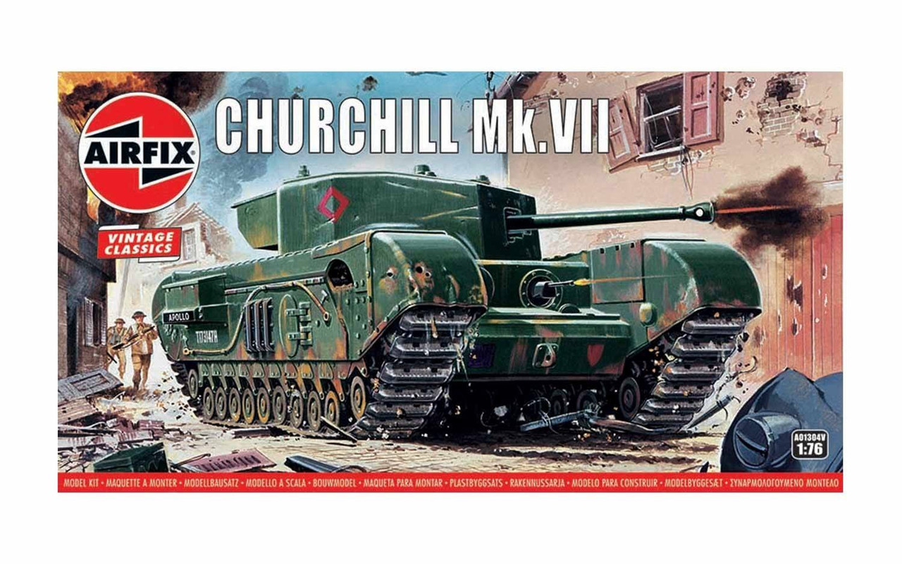 Airfix A01304V Vintage Classics - Churchill Mk.VII Tank 1:76 scale model kit