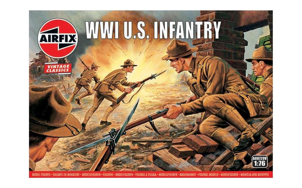 Airfix A00729V WW1 U.S Infantry 1:76 Scale Model Figures