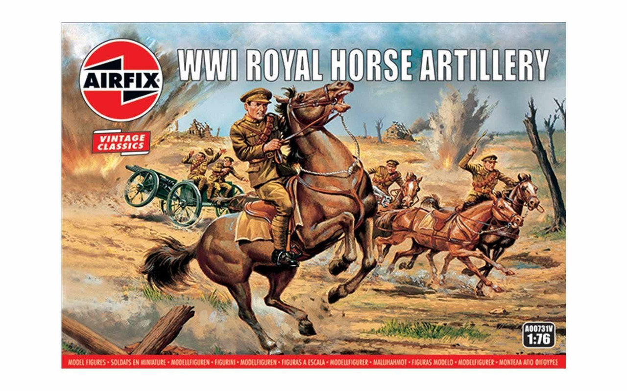 Airfix A00731V WW1 Royal Horse Artillery 1:76 Scale Model Figures