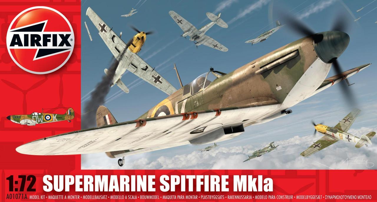 Airfix A01071A Supermarine Spitfire Mk1a 1:72 Scale Model Kit