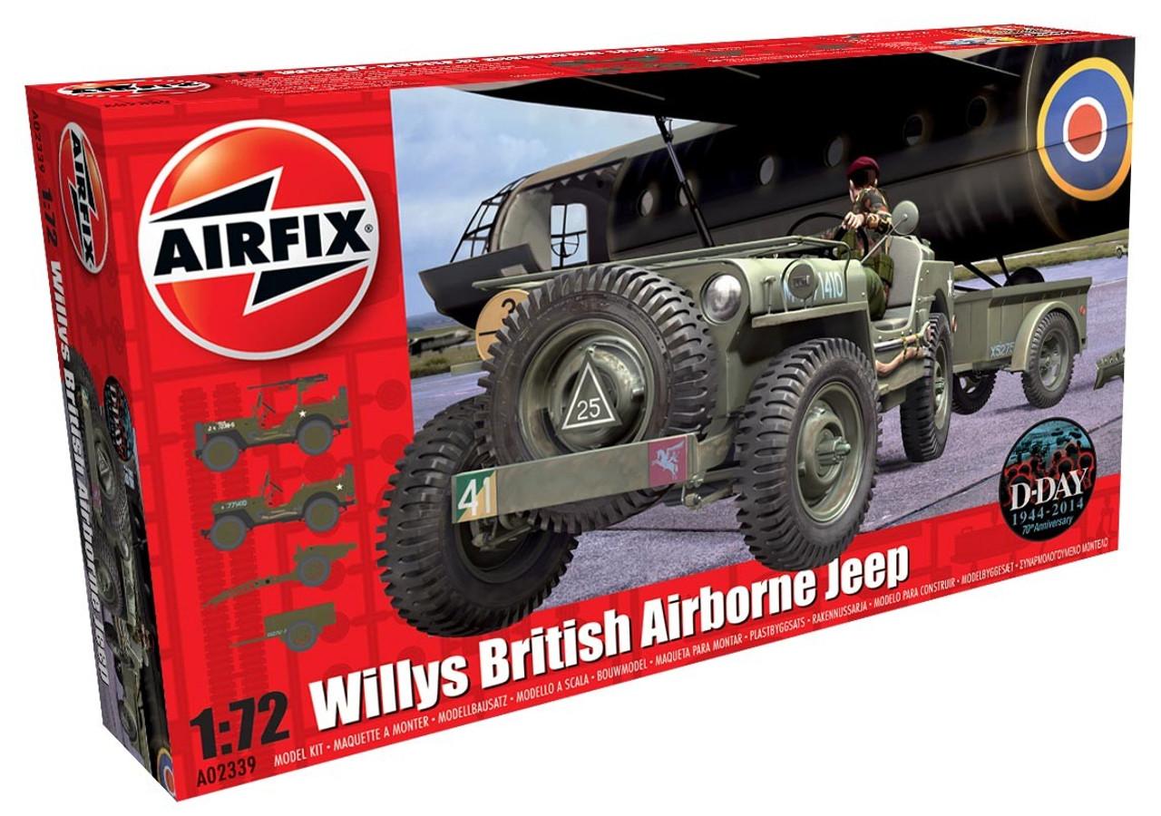 Airfix A02339 Willys Jeep Trailer & Howitzer 1:76 Scale Model Ki