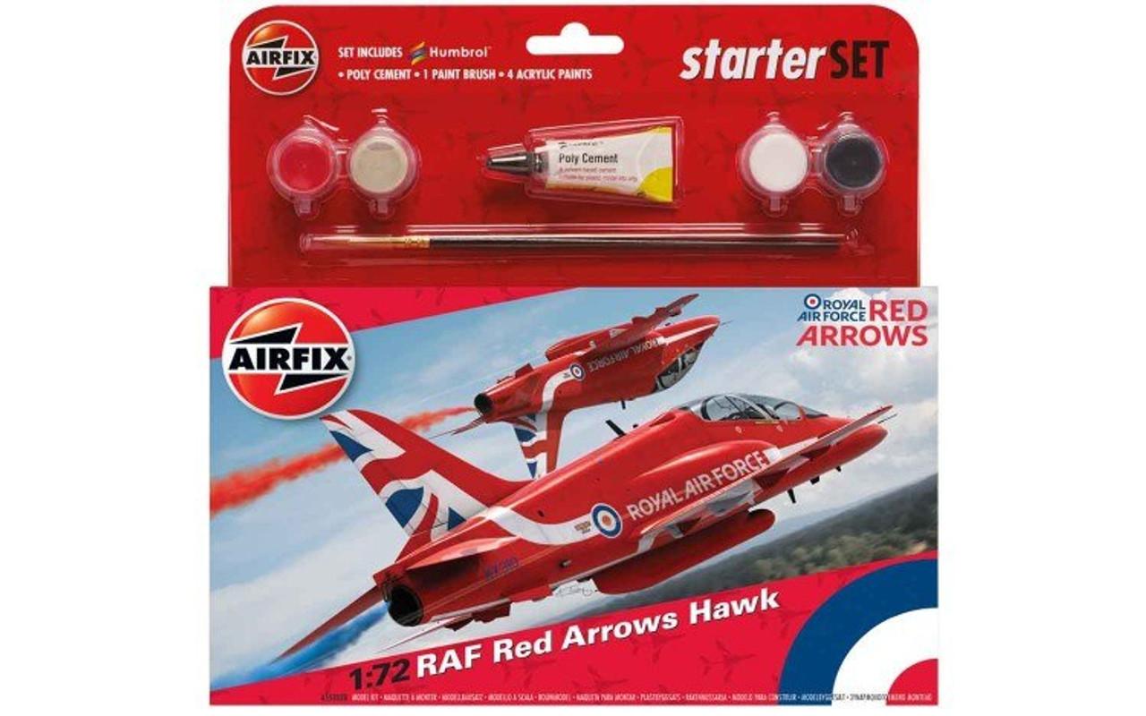 Airfix A55202B RAF Red Arrows Hawk 2015 Starter Set 1:72 Scale Model Kit